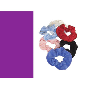 COTTON LYCRA SCRUNCHIES Accessories Dancers World ISTD Purple