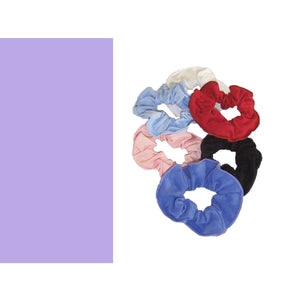 COTTON LYCRA SCRUNCHIES Accessories Dancers World Lilac