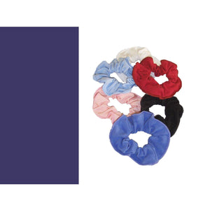 COTTON LYCRA SCRUNCHIES Accessories Dancers World Navy Blue