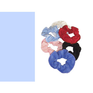 COTTON LYCRA SCRUNCHIES Accessories Dancers World Pale Blue