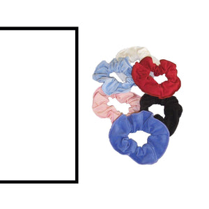 COTTON LYCRA SCRUNCHIES Accessories Dancers World White