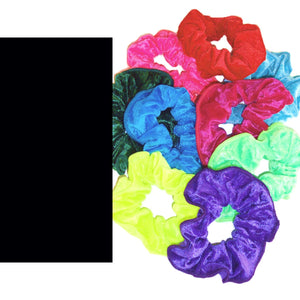 CRUSHED VELOUR HAIR SCRUNCHIES Accessories Dancers World Black Velour