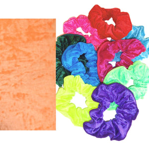 CRUSHED VELOUR HAIR SCRUNCHIES Accessories Dancers World Orange Velour