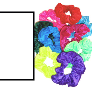 CRUSHED VELOUR HAIR SCRUNCHIES Accessories Dancers World White Velour