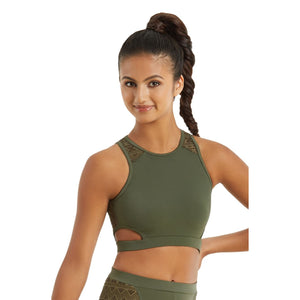 CUT OUT AZTEC MESH CROP TOP Dancewear Balera