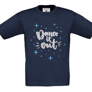 DANCE IT OUT - CHILDREN'S T SHIRT T-Shirts Personally Printed Navy Blue Age 1-2