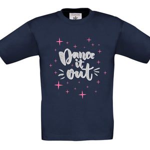 DANCE IT OUT - CHILDREN'S T SHIRT T-Shirts Personally Printed Navy Pink Age 1-2