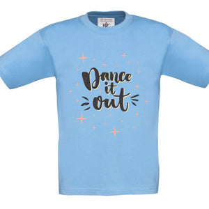 DANCE IT OUT - CHILDREN'S T SHIRT T-Shirts Personally Printed Sky Blue Orange Age 1-2