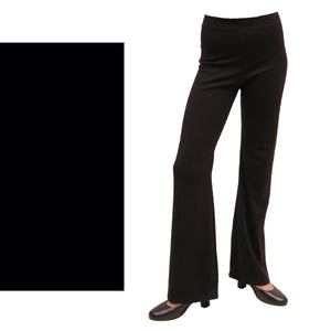 DANNI - NYLON LYCRA JAZZ PANTS / TROUSERS - LONG LEG Dancewear Dancers World Black 00 (Age 2-4)