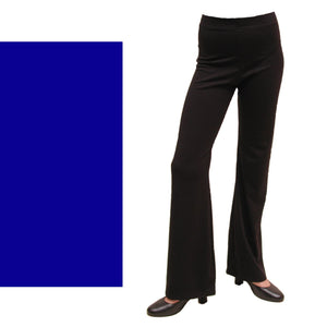 DANNI - NYLON LYCRA JAZZ PANTS / TROUSERS - LONG LEG Dancewear Dancers World Royal Blue 00 (Age 2-4)