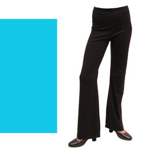 DANNI - NYLON LYCRA JAZZ PANTS / TROUSERS - SHORT LEG Ice Skating Dancers World Kingfisher 00 (Age 2-4)