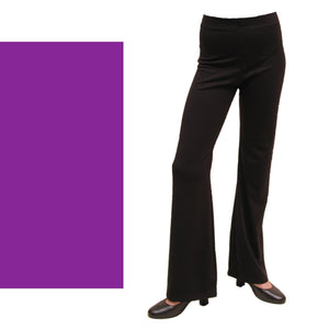 DANNI - NYLON LYCRA JAZZ PANTS / TROUSERS - SHORT LEG Ice Skating Dancers World Purple 00 (Age 2-4)