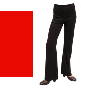 DANNI - NYLON LYCRA JAZZ PANTS / TROUSERS - SHORT LEG Ice Skating Dancers World Red 00 (Age 2-4)