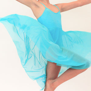 DREAM - CAMISOLE LYRICAL DRESS Dancewear Click Dancewear Aqua 00 (Age 2-4)