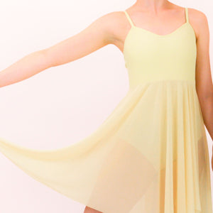 DREAM - CAMISOLE LYRICAL DRESS Dancewear Click Dancewear Lemon 00 (Age 2-4)