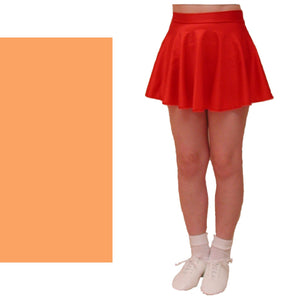 ECS - PEACH SHORT LENGTH CIRCULAR DANCE SKIRT - SIZE SMALL Dancewear Dancers World