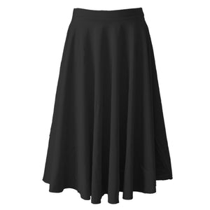 ECSL - LONGER LENGTH CIRCULAR SKIRT Dancewear Dancers World Black Small Child
