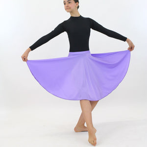 ECSL - LONGER LENGTH CIRCULAR SKIRT Dancewear Dancers World Lilac Large Child