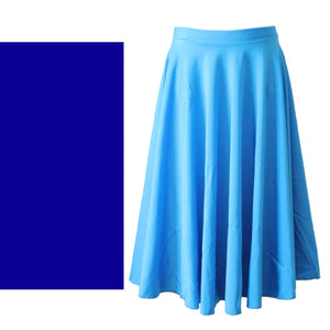 ECSL - LONGER LENGTH CIRCULAR SKIRT Dancewear Dancers World Royal Blue Small Child