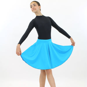 ECSM - MEDIUM LENGTH CIRCULAR SKIRT Dancewear Dancers World Kingfisher Small Child