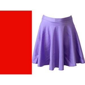 ECSM - MEDIUM LENGTH CIRCULAR SKIRT Dancewear Dancers World Red Small Child