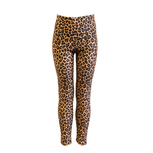 EFT - CHEETAH ANIMAL PRINT FOOTLESS TIGHTS/ LEGGINGS Dancewear Dancers World