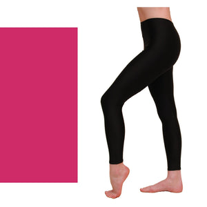 EFT - FOOTLESS TIGHTS / LEGGINGS Dancewear Dancers World Cerise 00 (Age 2-4)