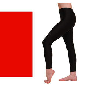 EFT - FOOTLESS TIGHTS / LEGGINGS Dancewear Dancers World Red 00 (Age 2-4)