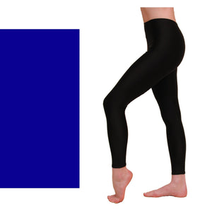 EFT - FOOTLESS TIGHTS / LEGGINGS Dancewear Dancers World Royal Blue 00 (Age 2-4)