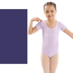 EMILY - NAVY SHORT SLEEVE COTTON LEOTARD Dancewear Dancers World