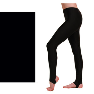 EST - STIRRUP TIGHTS / LEGGINGS Dancewear Dancers World Black 00 (Age 2-4)