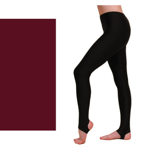 EST - STIRRUP TIGHTS / LEGGINGS Dancewear Dancers World Burgundy 00 (Age 2-4)