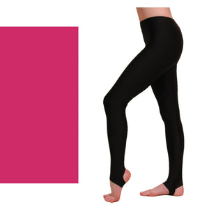 EST - STIRRUP TIGHTS / LEGGINGS Dancewear Dancers World Cerise 00 (Age 2-4)