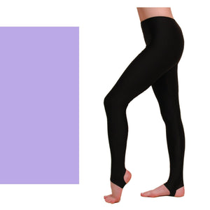 EST - STIRRUP TIGHTS / LEGGINGS Dancewear Dancers World Lilac 00 (Age 2-4)
