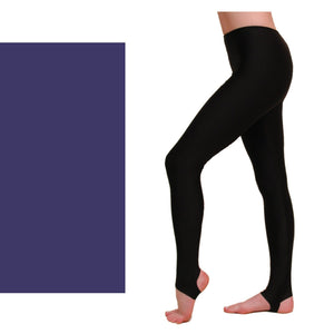 EST - STIRRUP TIGHTS / LEGGINGS Dancewear Dancers World Navy Blue 00 (Age 2-4)