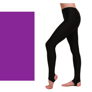 EST - STIRRUP TIGHTS / LEGGINGS Dancewear Dancers World Purple 00 (Age 2-4)