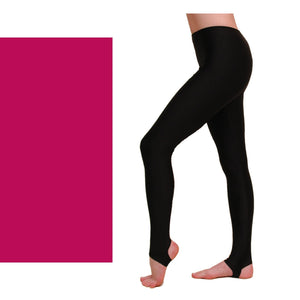 EST - STIRRUP TIGHTS / LEGGINGS DARK CERISE - SIZE 00 (AGE 2-4 Dancewear Dancers World