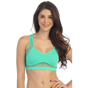 FISHNET RACER BACK BRA TOP Dancewear Kurve Turquoise One Size (Youth-Medium Adult)