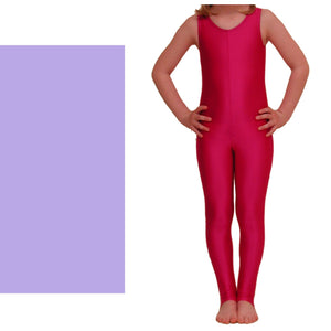 GEORGIE - SLEEVELESS STIRRUP FOOT CATSUIT Dancewear Dancers World Lilac 00 (Age 2-4)