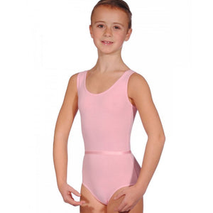 GRACE - PINK SLEEVELESS COTTON LEOTARD WITH BELT Dancewear Dancers World