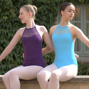 HEIDI - HALTER NECK MESH PANEL LEOTARD Dancewear Click Dancewear
