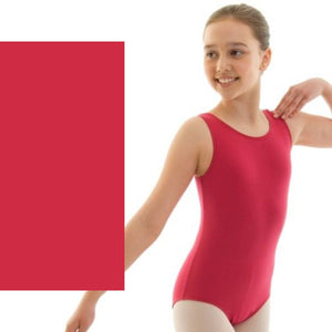 HELENA - ISTD STYLE COTTON LEOTARD Dancewear Dancers World Plum 00 (Age 2-4)
