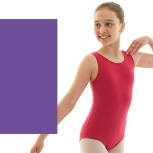 HELENA - ISTD STYLE COTTON LEOTARD Dancewear Dancers World Purple 00 (Age 2-4)