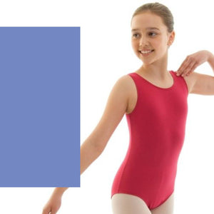 HELENA - ISTD STYLE COTTON LEOTARD Dancewear Dancers World Sky Blue 00 (Age 2-4)