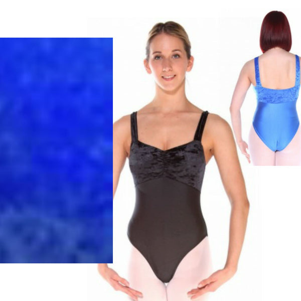 IRIS - ROYAL WIDE STRAP RUCHED FRONT LEOTARD - SIZE 3 (DRESS SIZE 8-10) Dancewear Arabesque