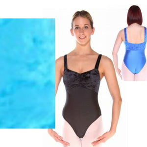 IRIS - TURQUOISE WIDE STRAP RUCHED FRONT LEOTARD - SIZE 2A (AGE 10-11) Dancewear Arabesque