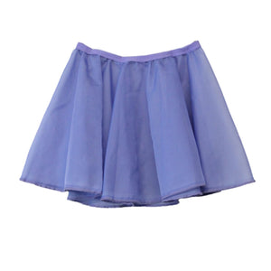 "ISTD CHIFFON SKIRT Dancewear Dancers World Sky Blue 18"" waist"