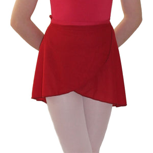 "ISTD WRAPOVER SKIRT Dancewear Dancers World Plum 20-24"" waist"