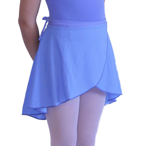 "ISTD WRAPOVER SKIRT Dancewear Dancers World Sky Blue 20-24"" waist"