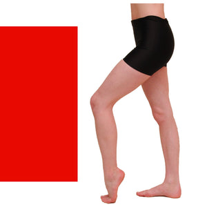 JAMIE - HOTPANTS / SHORTS Dancewear Dancers World Red 0 (Age 4-6)